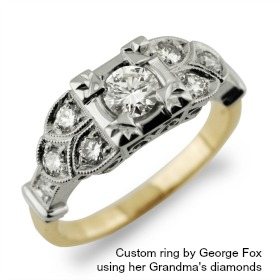 Custom Engagement Ring from Fox Fine Jewelry