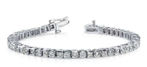 Diamond Tennis Bracelet with Safety Clasp