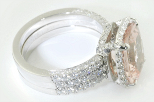 Custom engagement ring and wedding set, by Fox Fine Jewelry owner George Fox