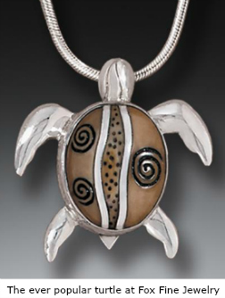 Turtle Pendant with fossilized ivory by Zealandia
