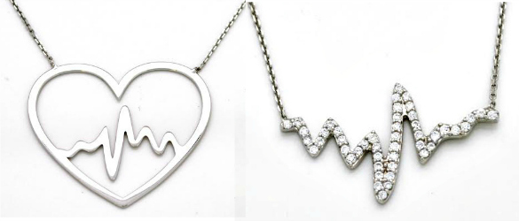 sterling silver heartbeat necklace graduation gift