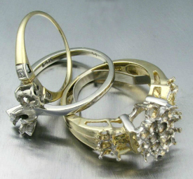 Old diamond ring mountings