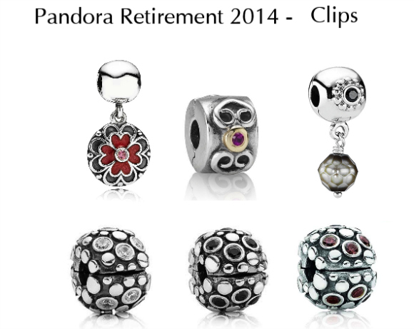 2014 Pandora Retired Charms-Clips