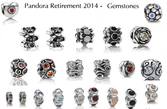 2014 Pandora Retired Charms-colored gemstones