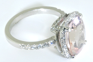 custom engagement ring by George Fox with morganitecustom engagement set by George Fox with morganite