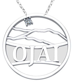 Diamond Ojai Mountain Necklace