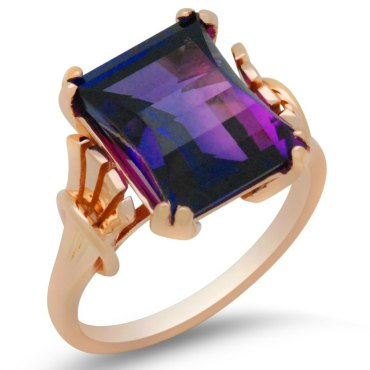 Antique amethyst redesign in rose gold