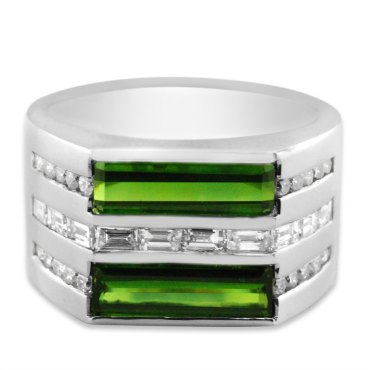 green-tourmaline-baguette-diamond-round-diamond-wide-mens-ring-flat