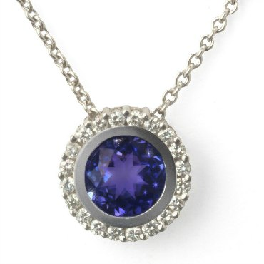 Tanzanite-and-diamond-halo-custom-necklace