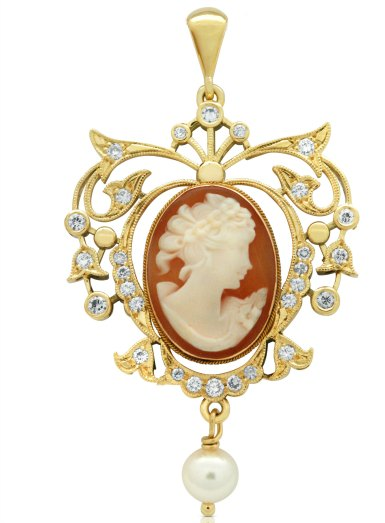 Custom cameo necklace