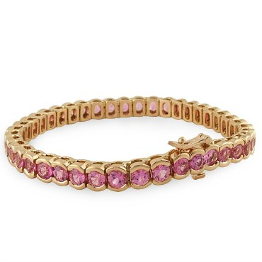 pink-sapphire-bezel-set-custom-bracelet-in-rose-gold