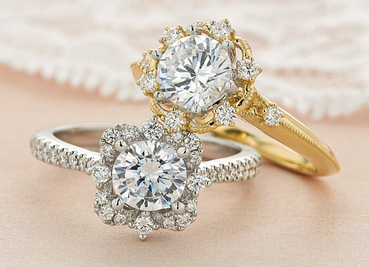 What Kind Of Wedding Bands Go With Halo Engagement Rings