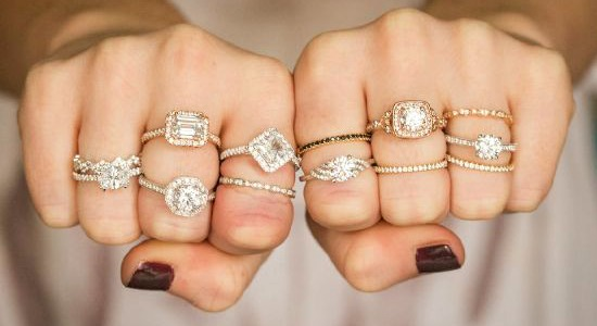 Many diamond engagement rings