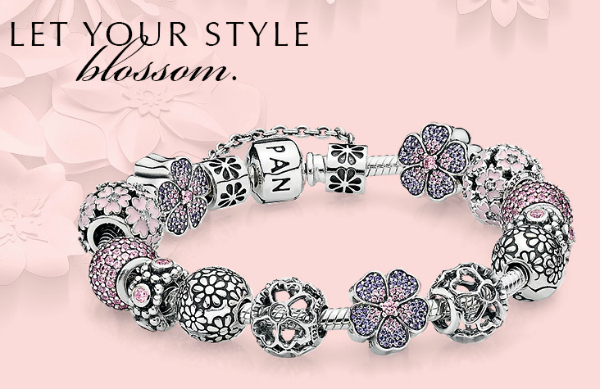 Pandora Spring 2015 Charms - Flowers in Pink