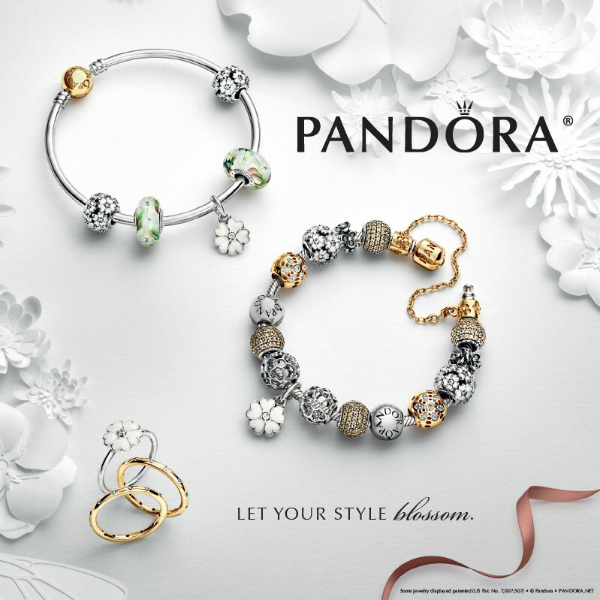 Pandora Spring 2015 Charms - Bangle Bracelet with gold