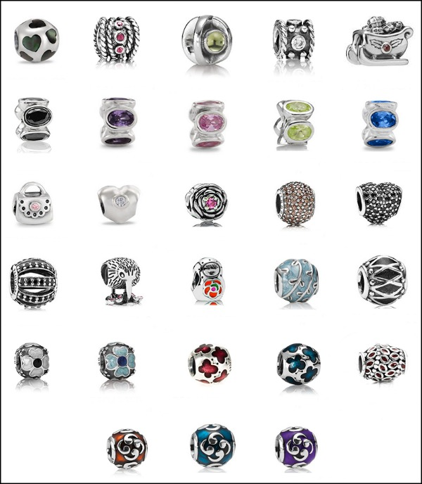Pandora Spring Retired Charms - enamel and sparkly