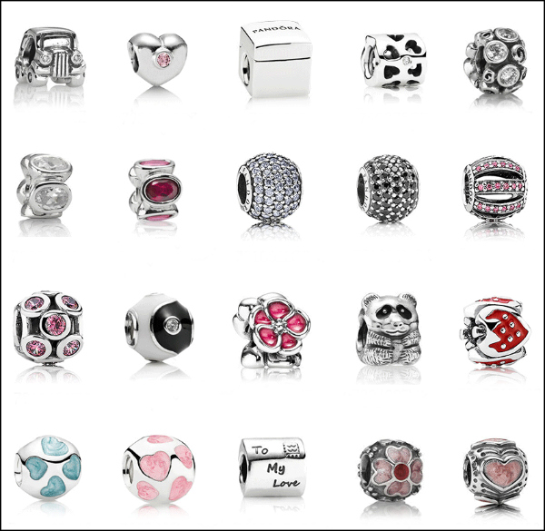 Pandora Spring Retired Charms - sparkly and enamel