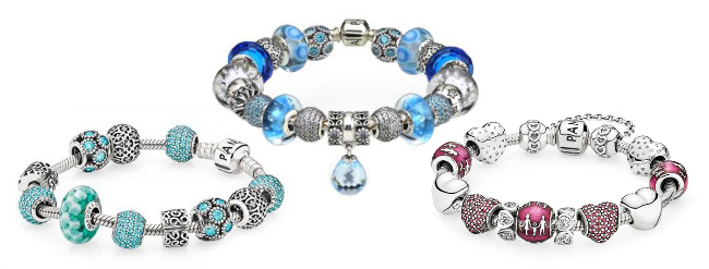 color themed pandora bracelets