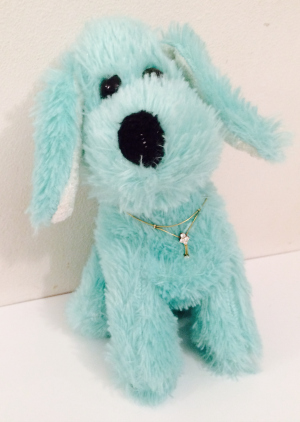Stuffed Animal with Gold and Diamond Necklace