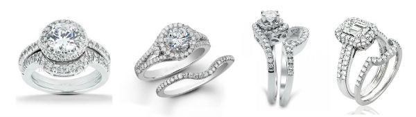 da58b6aaf187b What kind of wedding bands go with halo engagement rings?